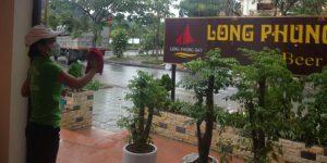 Tổng vệ sinh Nhà Hàng Long Phụng Bay