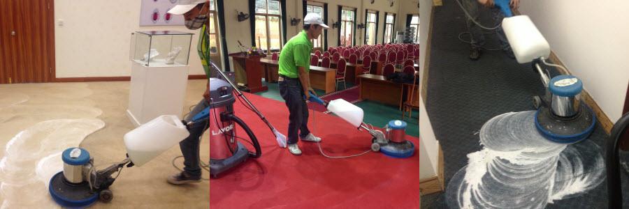 Dịch vụ giặt thảm văn phòng giá rẻ tại Hạ Long