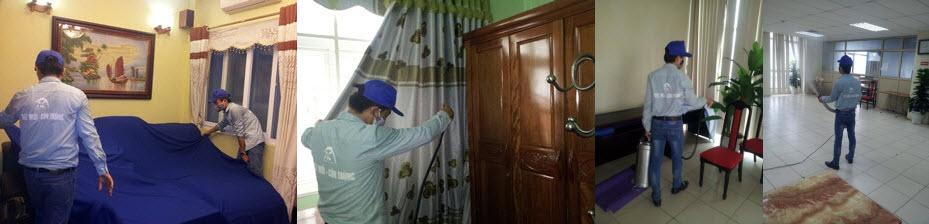 Phun thuốc diệt muỗi cho hộ gia đình tại Hạ Long