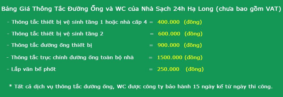 Dịch vụ thông tắc bể phốt tại Hạ Long