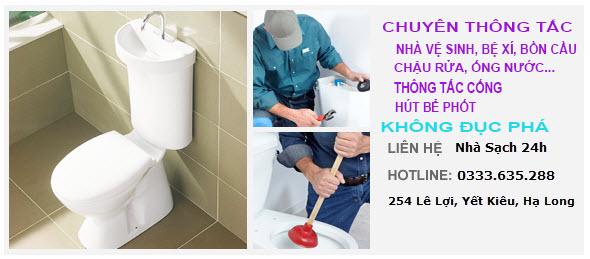 Thông tắc nhà vệ sinh tại Hạ Long