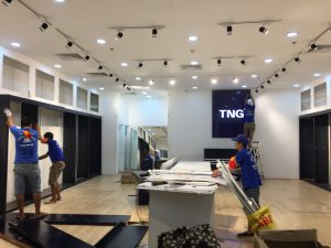 Chuyển gian hàng TNG tại VinCom Hạ Long 1