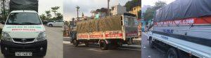 Xe tải chở hàng tại Hạ Long